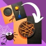 Halloween Paper Plate Spider Web Craft for Kids with Worksheets (4-6 Year Olds)