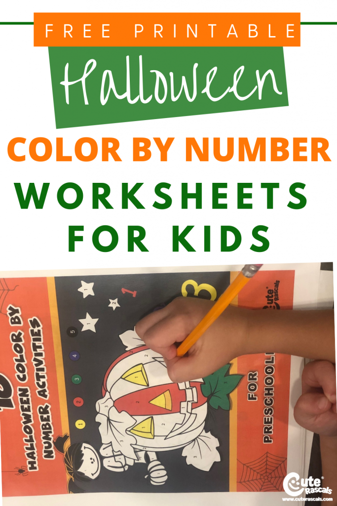 Level up your little one's coloring skills by incorporating number lessons. Check out this post to download 10 pages of free printable Halloween color by number activity sheets for preschoolers.