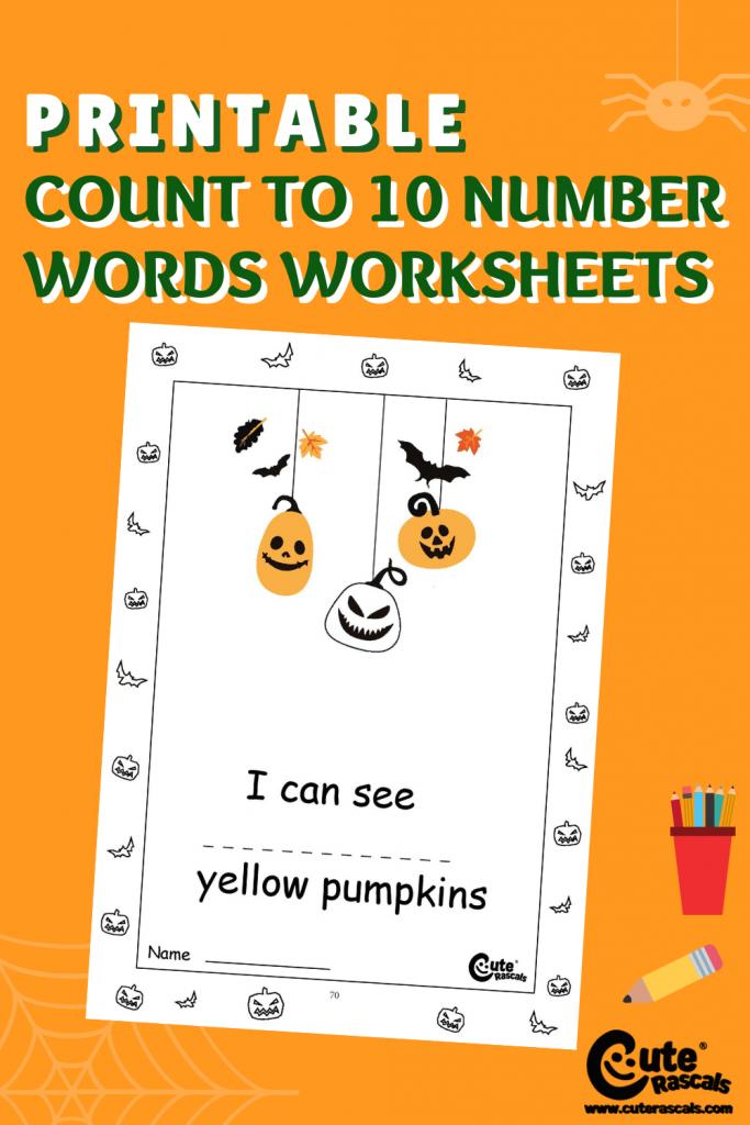 Fun Halloween Math worksheet for preschoolers