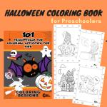 101 Free Printable Halloween Coloring Book for Preschoolers