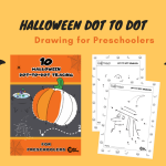 Free Printable Halloween Dot to Dot Drawing for Kids