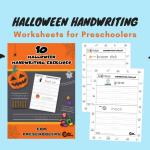 Free Printable Halloween Handwriting Worksheets for Kids