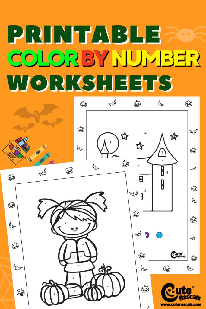 Fun printable color by number worksheets for preschoolers.