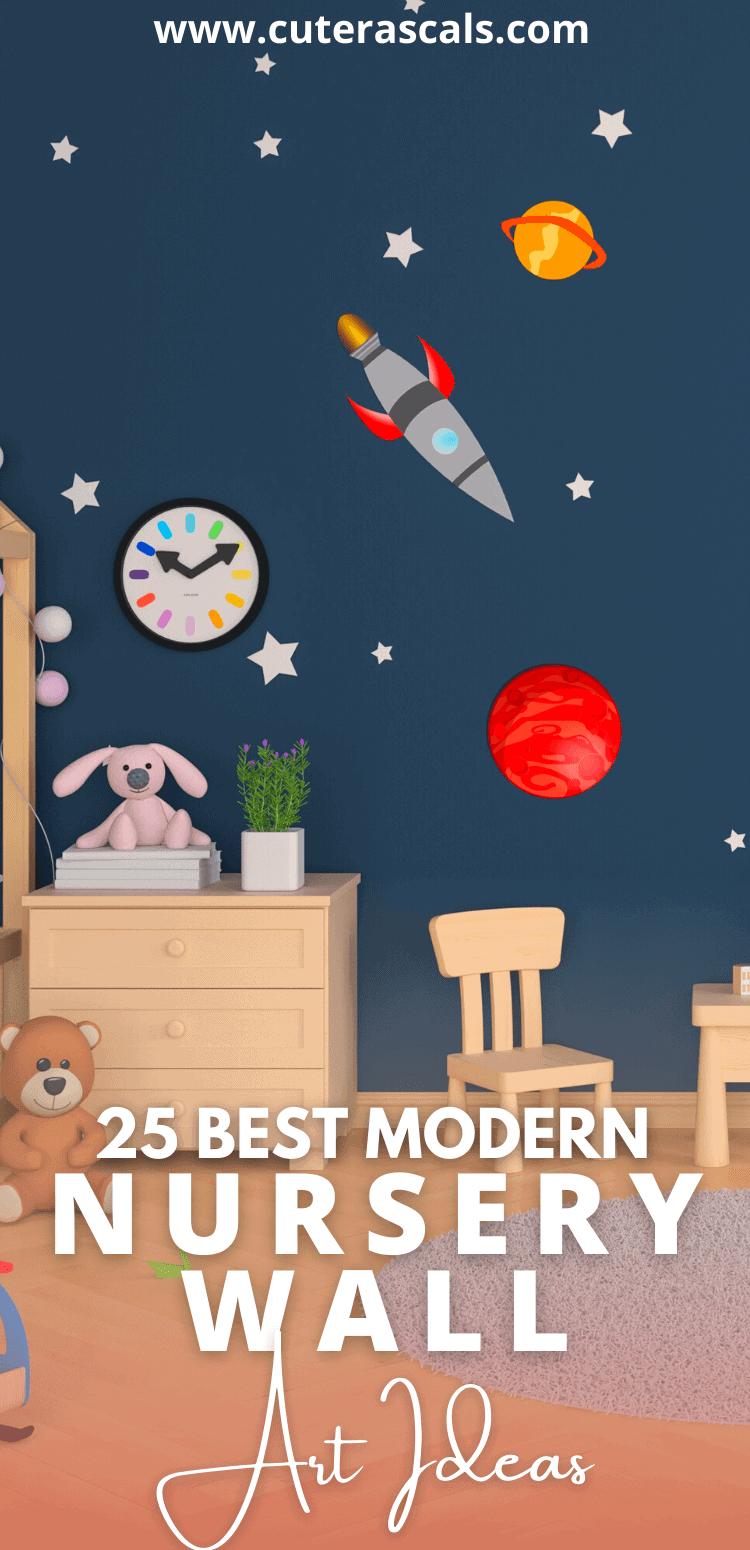 25 Best Modern Nursery Wall Art Ideas