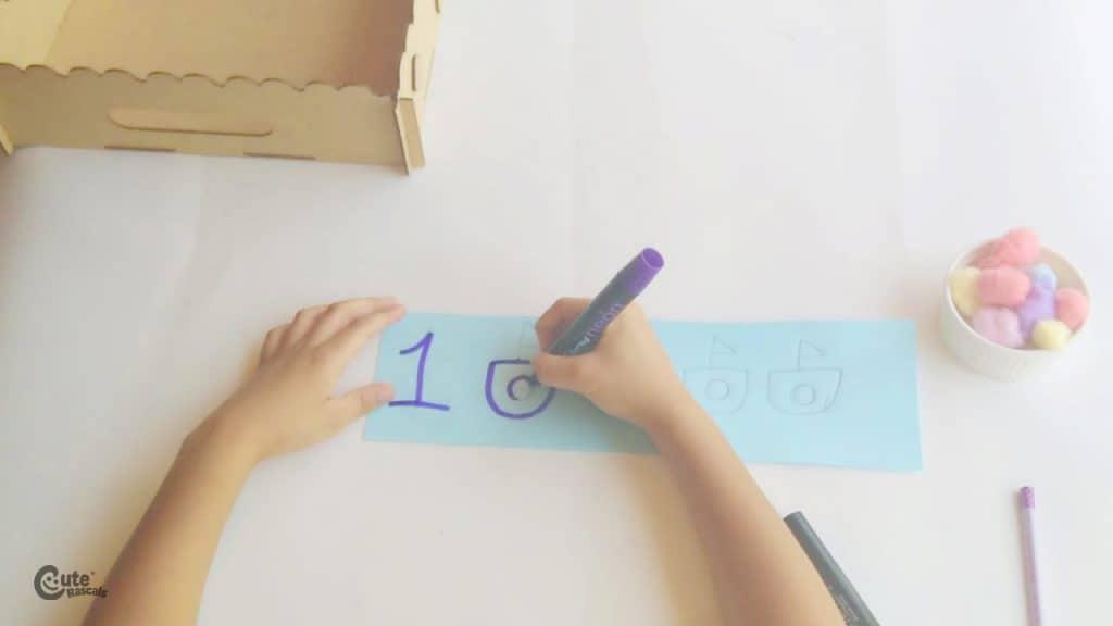 Montessori Math kid activity