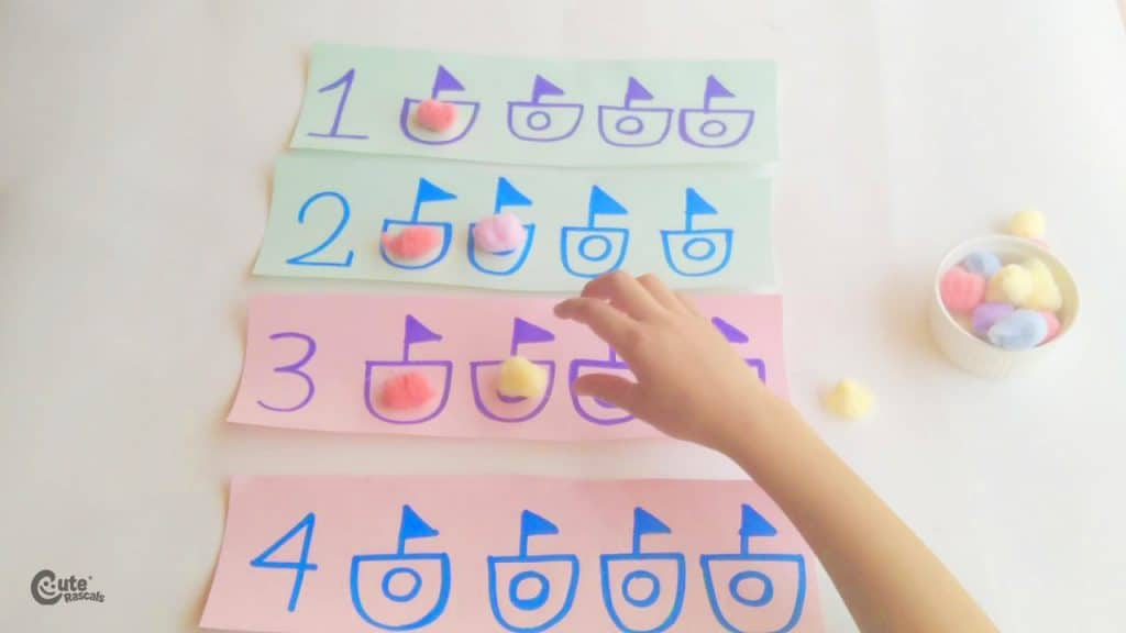 Fun number and quantity game for kids