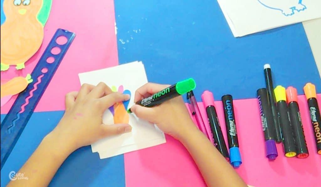 Kids Montessori Math activity.