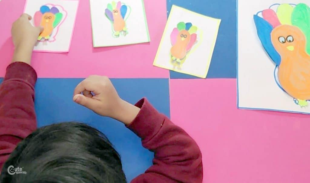 Fun Thanksgiving Montessori Math activity