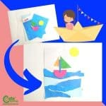 Simple Preschool Roleplaying Paper Boat Craft Activity for Kids with Worksheets (4-6 Year Olds)