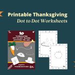Free Printable Thanksgiving Dot to Dot for Kids