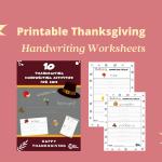Free Printable Thanksgiving Handwriting Worksheets
