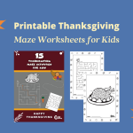 Thanksgiving Maze Printables for Kids