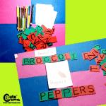 Thanksgiving Vegetable Spelling for Children (4-6 Years Old)