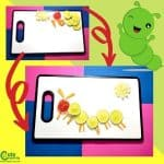 Yummy Caterpillar with Vegetables Kids Will Eat Sensorial Worksheets (2-4 Year Olds)