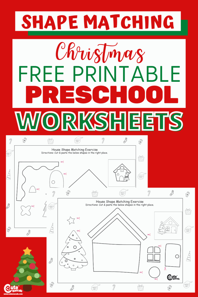 Free printable shape matching worksheets for kids