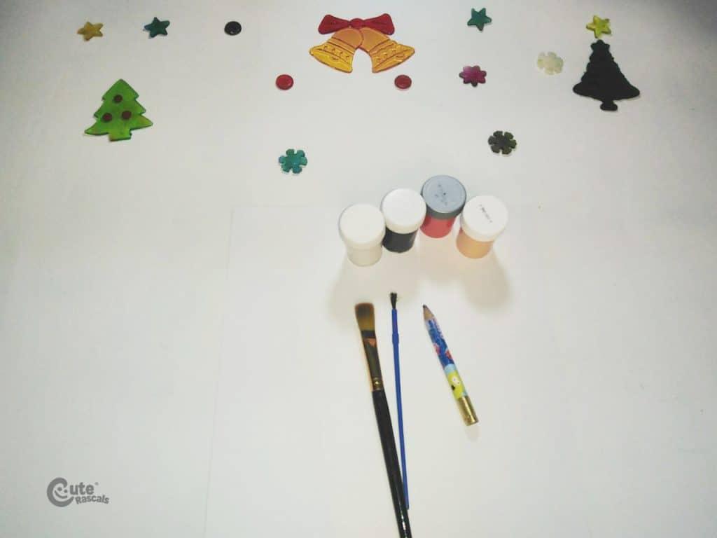 Materials for Santa Claus drawing