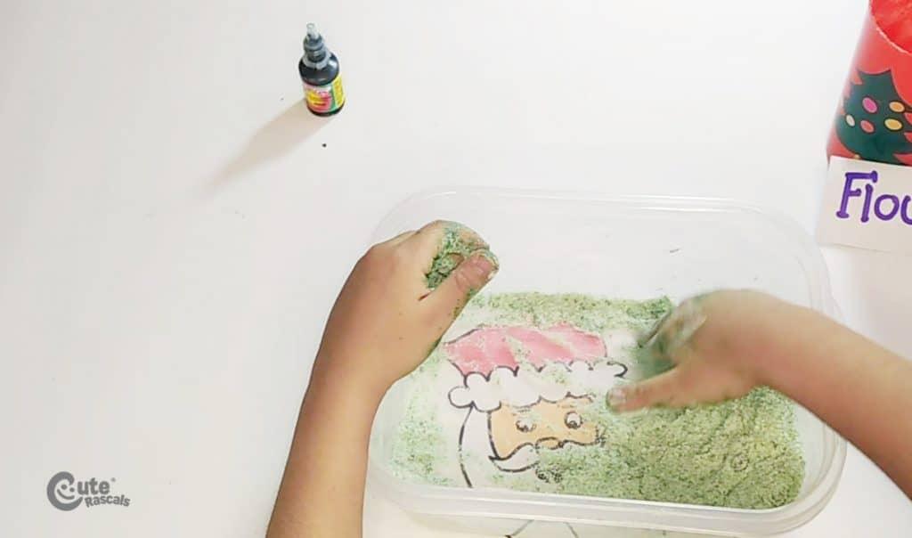 Sensory play activity for kindergarten