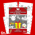 Pre-K Free Printable Christmas Color by Number Worksheets