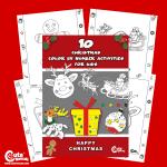 Pre-K Free Printable Christmas Color by Number Worksheets