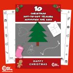 Free Printable Christmas Dot to Dot Preschool Worksheets