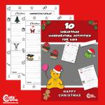 Pre-K Christmas Printable Free Handwriting Worksheets
