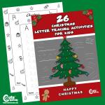 Letter Tracing Alphabet Worksheets Christmas Printables for Preschoolers