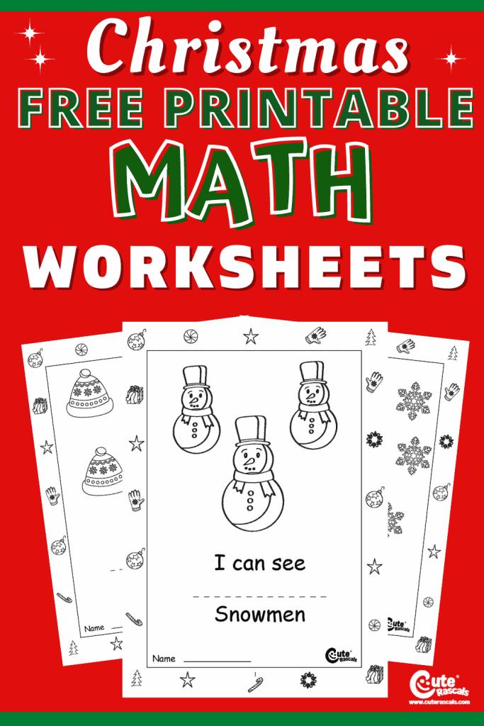 Fun math worksheets for kindergarten.