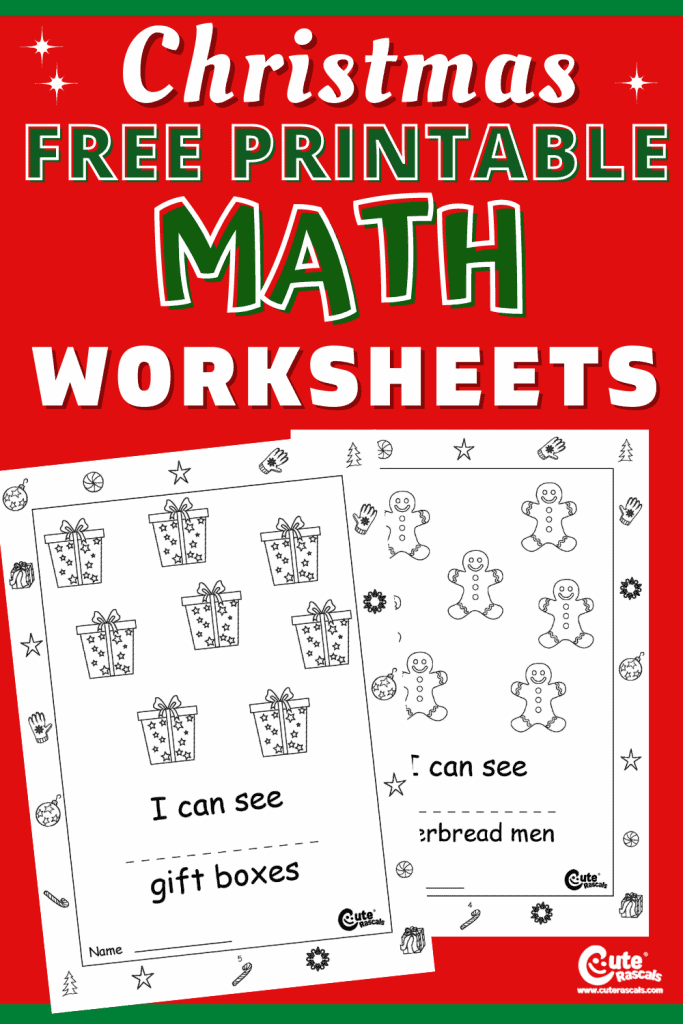 Easy and fun simple math counting worksheets for kids.