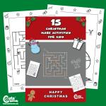 Pre-K Free Printable Christmas Maze Worksheets