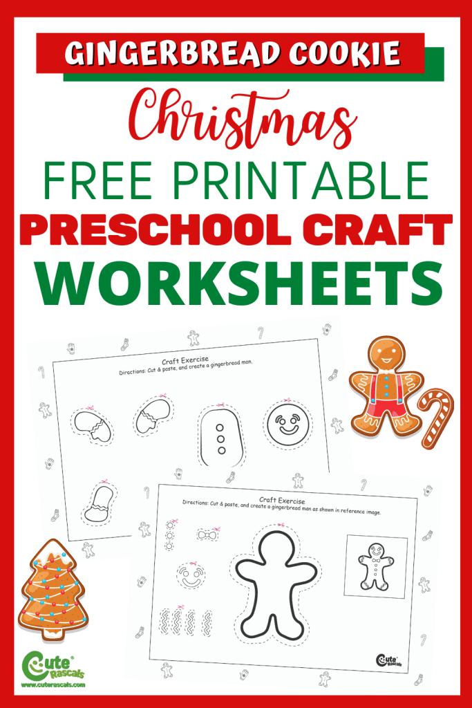 Free printable craft worksheets for preschoolers