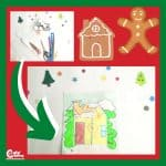 Gingerbread House Puzzle Game - Christmas Indoor Activity for Toddlers Worksheets (1-2 Year Olds)