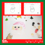 Santa Claus Drawing Christmas Art for Kindergarten with Free Printable Worksheets (4-6 Year Olds)