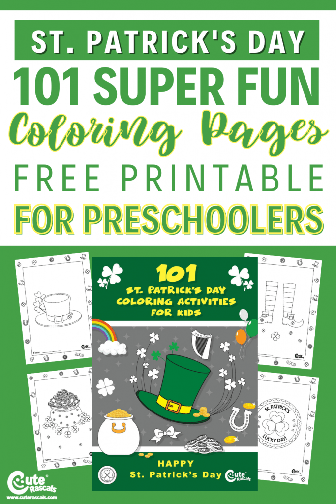 Keep kids busy with this free printable St. Patrick's day coloring sheets for kindergarten