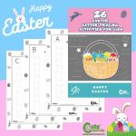Free Printable Alphabet Letter Tracing Easter Worksheets for Kids