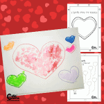 Easy and Simple Heart Valentines Arts and Crafts for Kids (4-6 Year Olds) Montessori Activity with Free Printable Worksheets