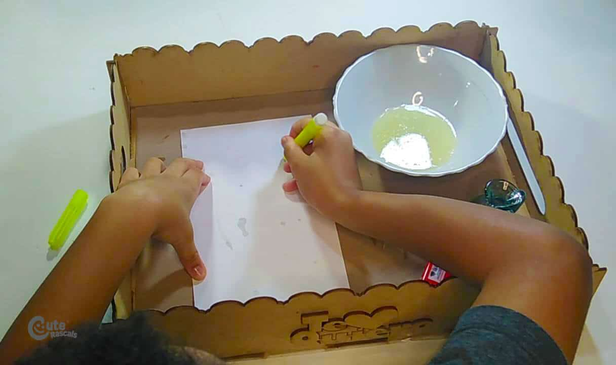 Draw a bird with the marker on the cardboard. Cool science experiments