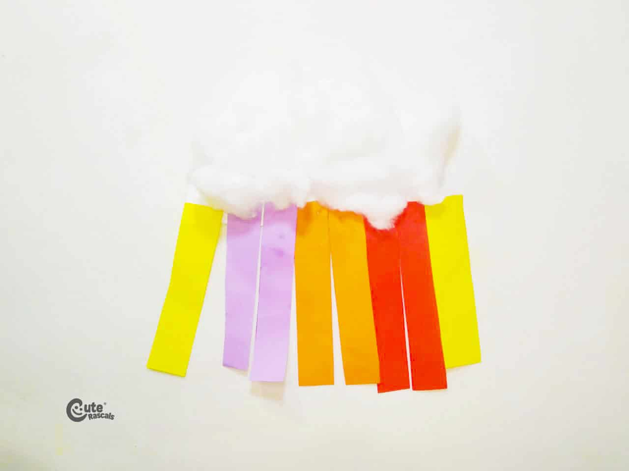 Rainbow craft made with different materials