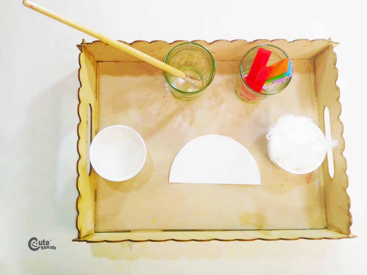 Materials Rainbow Handcraft Experiment