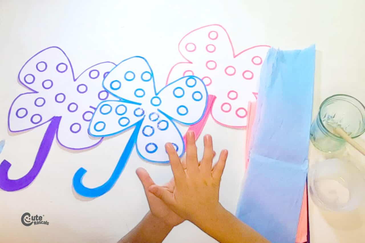 Make little paper balls. fine motor activities for kids