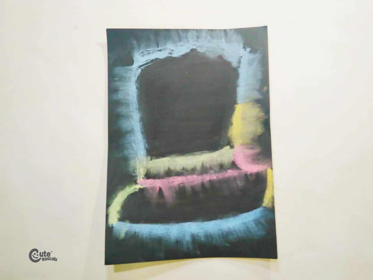 Leprechaun chalk art for kids