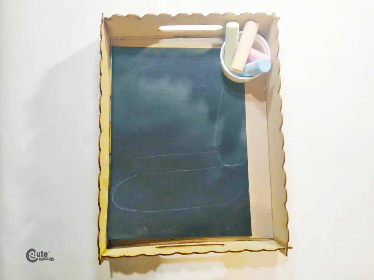 Materials for leprechaun chalk art for kids