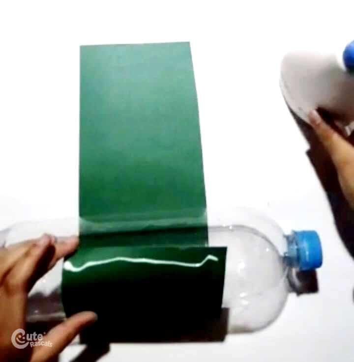 glue it around the bottle