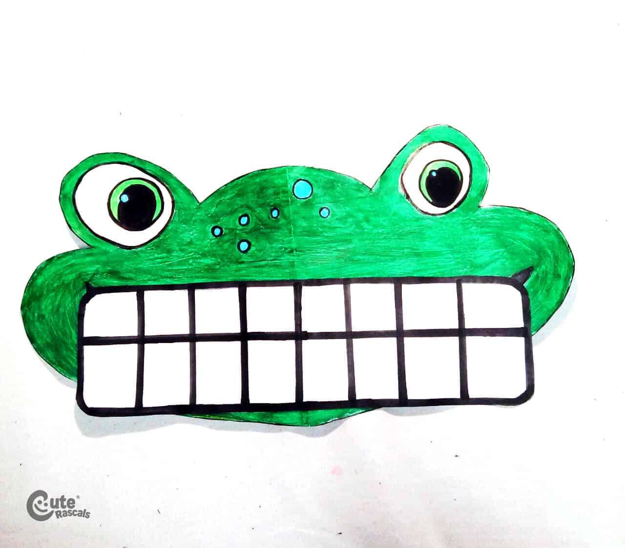 Smiling frog Math Activity for Preschoolers