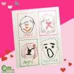 Help Children Express Feelings with Playdough Fun and Easy Valentine Craft for Kids (4-6 Year Olds) Montessori Activity with Free Printable Worksheets