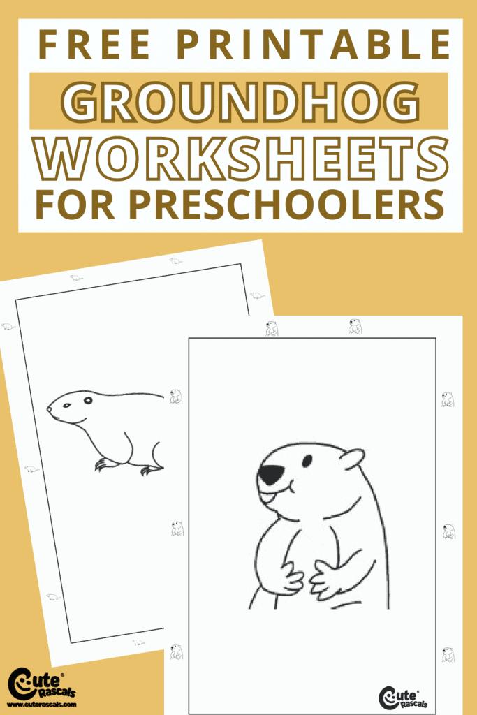 Free printable groundhog worksheets for water art for preschoolers activity