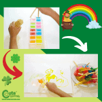 Ice Rainbow Sensory Play for Toddlers Worksheets for St. Patrick's Day (1-2 Year Olds)