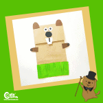 Groundhog Paper Bag Easy Art and Craft Idea for Preschoolers Montessori Activity with Printable Worksheets (4-6 Year Olds)