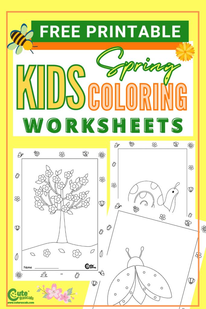 Fun spring worksheets for kids