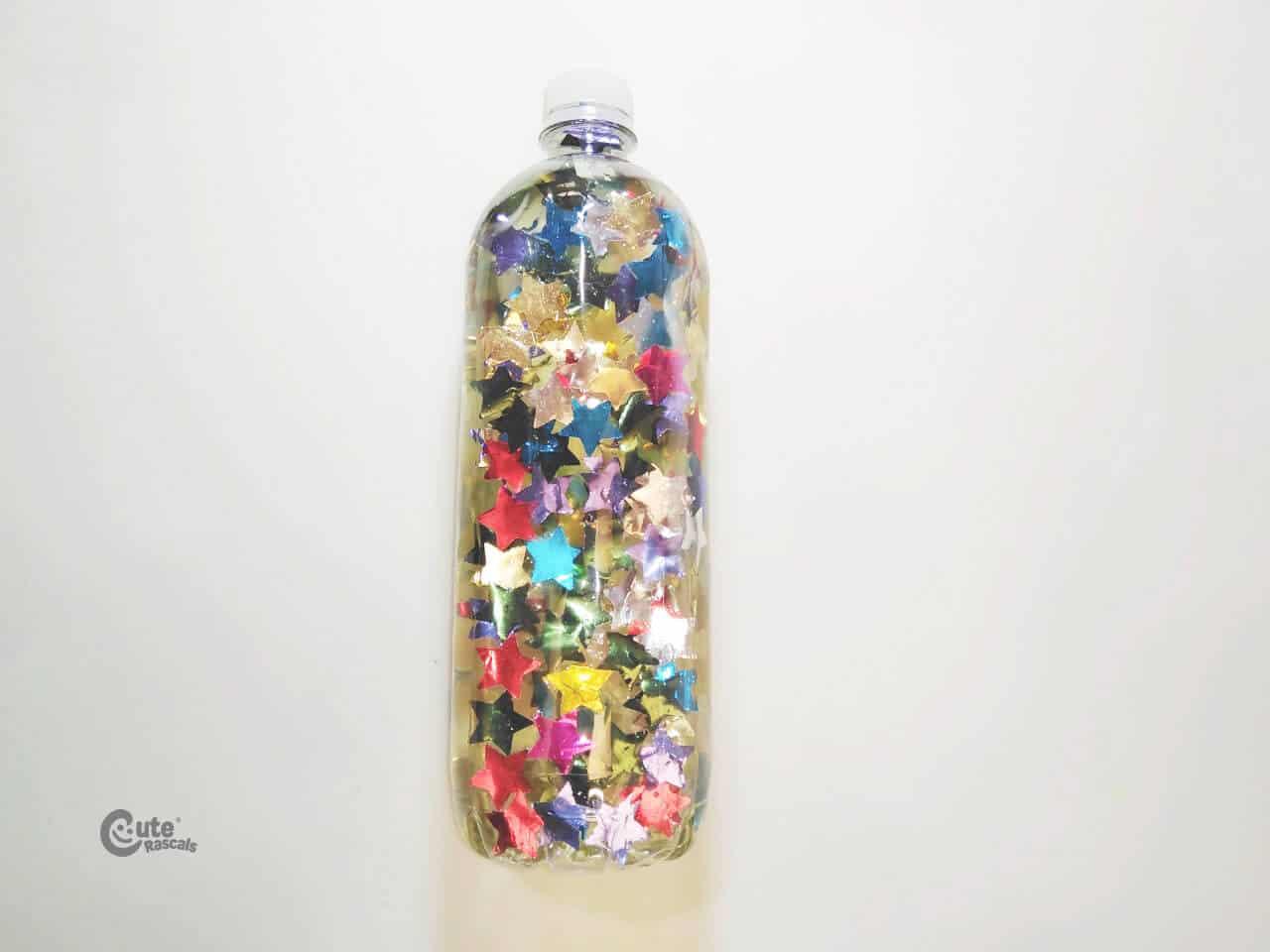 sensory bottle craft full of colors