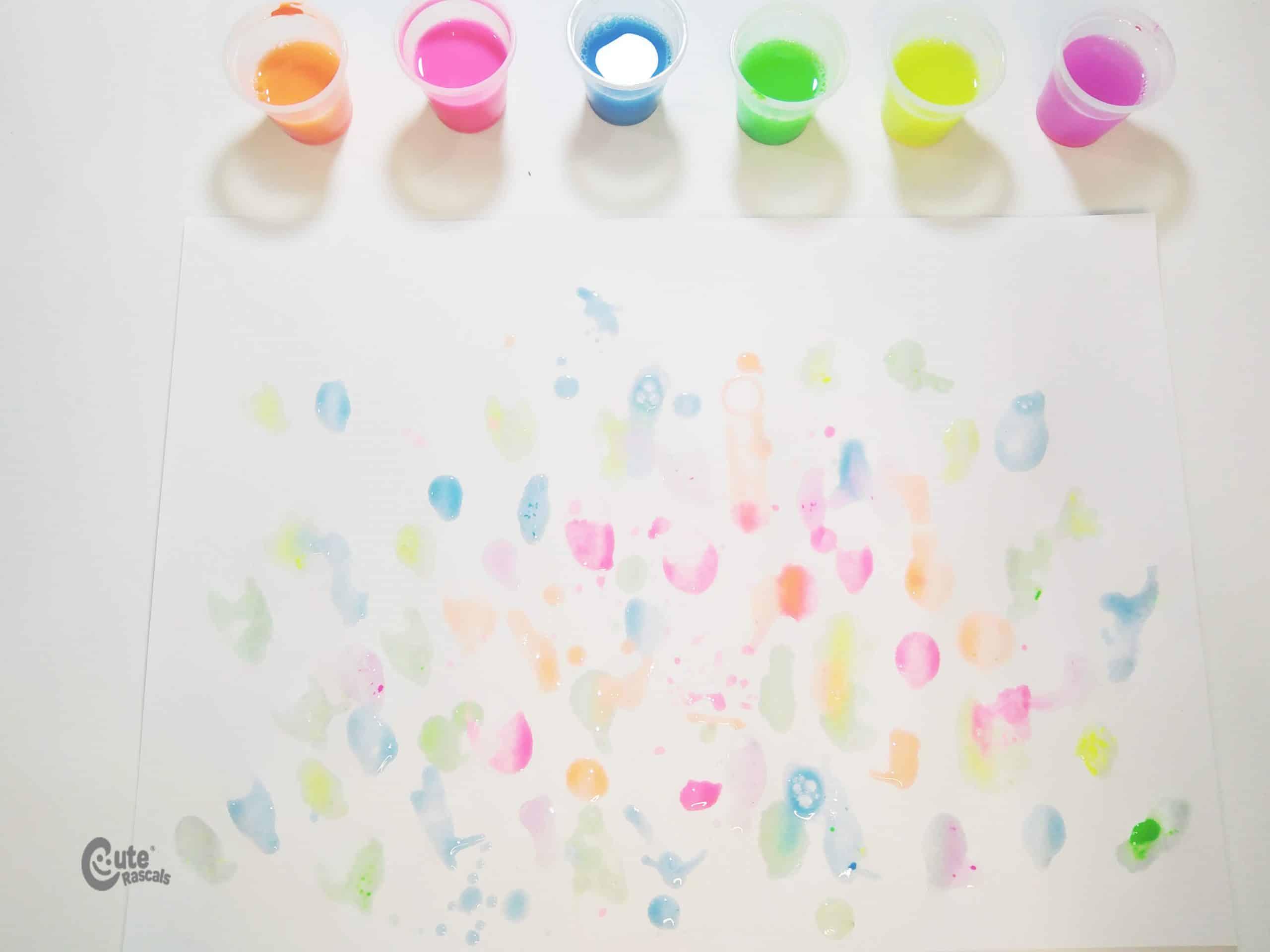 Colorful bubbles sensorial activity